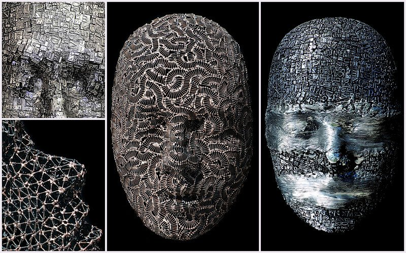Amazing Masks Made of Metal Type, Bolts, and Screws 1