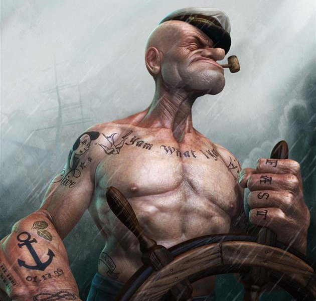 MODERN DAY MUSCLES: REALISTIC POPEYE BY LEE ROMAO 1