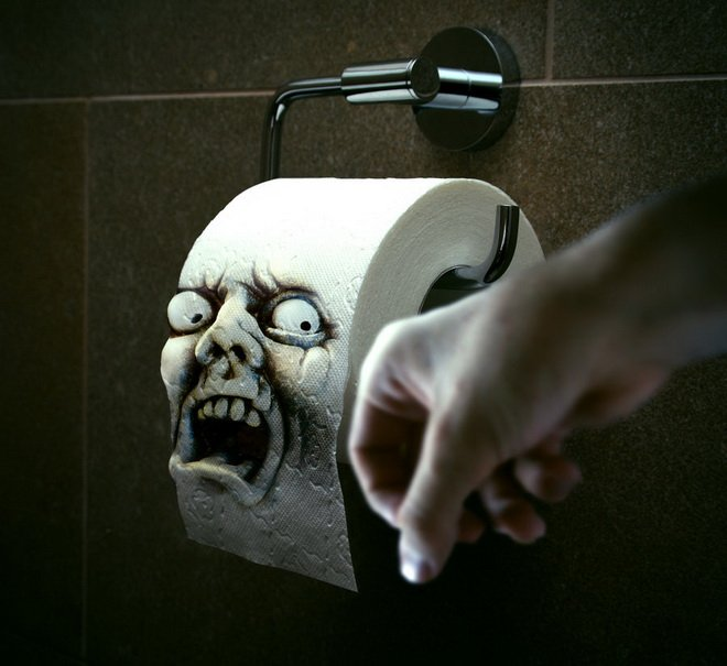 Photoshop technique Toilet paper