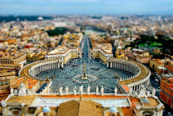 tilt_shift___Vatican_by_zpecter