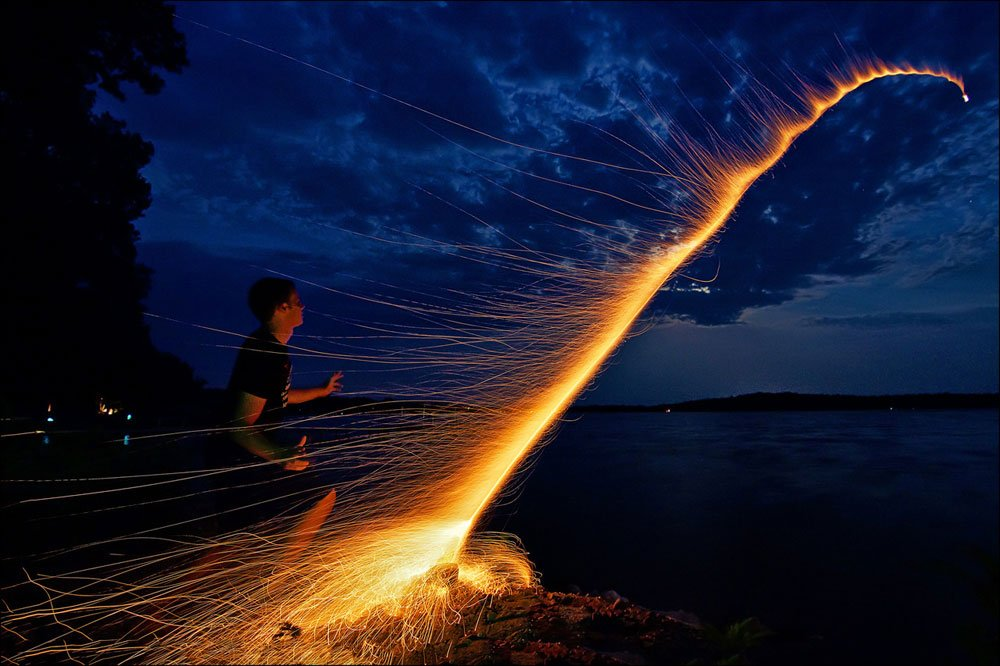 Long Exposure of a Bottle Rocket by Proteon