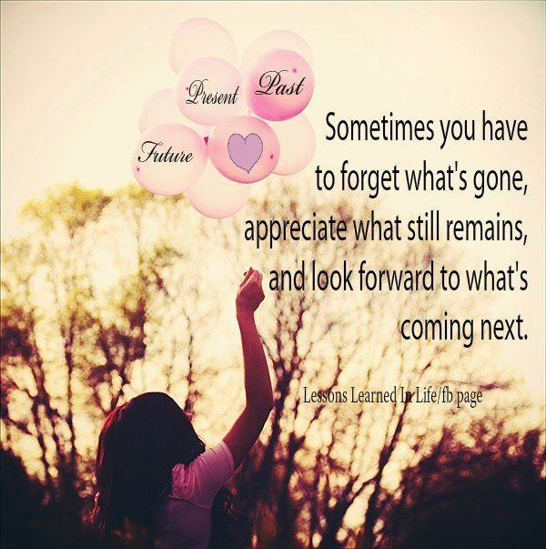 SOMETIMES YOU HAVE TO FORGET