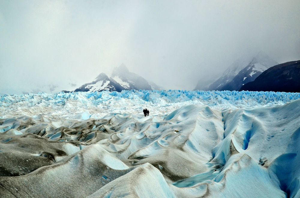 Glacier trekking Photograph by Nahid Bhadelia