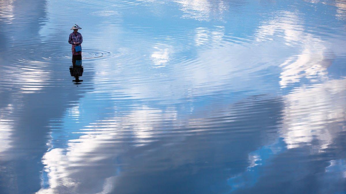 man-walking-cloud-water